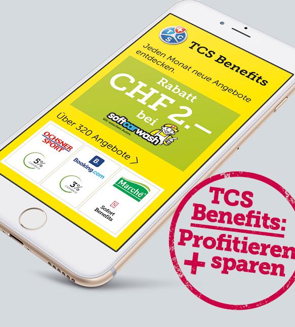Als TCS Mitglied können Sie täglich sparen