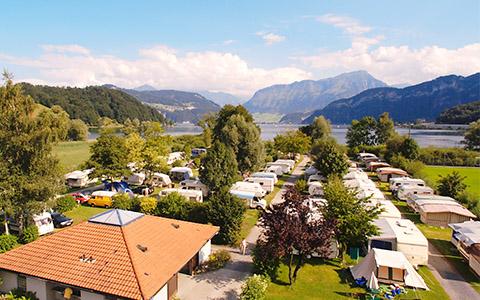 TCS Camping Luzern-Horw am prächtigen Vierwaldstättersee