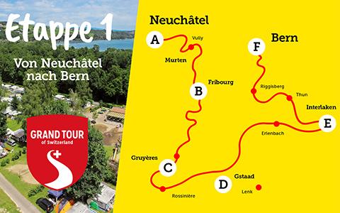Etappe 1 der Camping Grand Tour of Switzerland