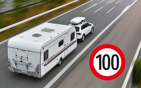 Tempo 100 für Wohnwagengespanne
