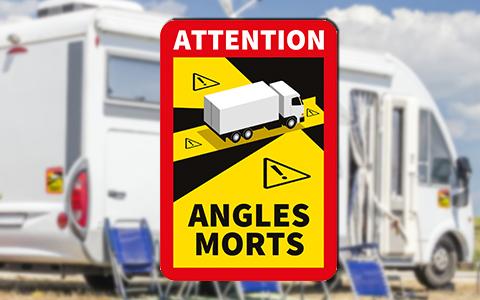 Toter-Winkel Aufkleber für Wohnmobile über 3.5 t